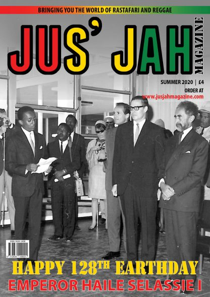Jus' Jah Magazine Cover Page Summer 2020